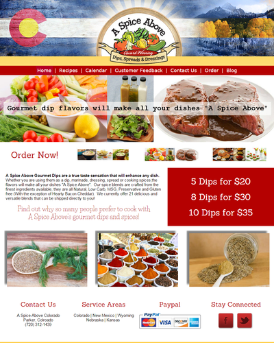 A Spice Above, Parker, Colorado by W3Now Web Design