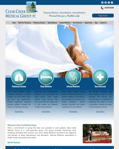 Clear Creek Medical Group, Lakewood, Colorado by W3Now Web Design