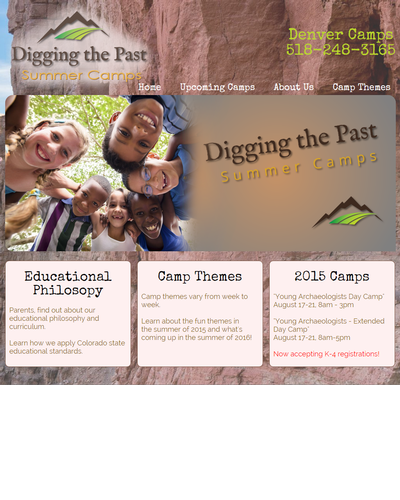 Digging The Past in Denver, Colorado by W3Now Web Design