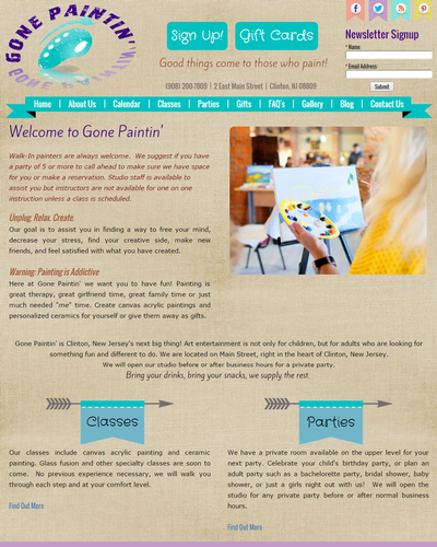 Gone Paintin', New Jersey by W3Now Web Design