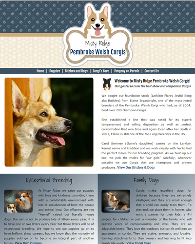 Misty Ridge Corgis, Parker, Colorado by W3Now Web Design