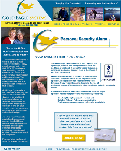 Gold Eagle Systems, Colorado by W3Now Web Design
