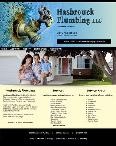 Hasbrouck Plumbing in Colorado by W3Now Web Design