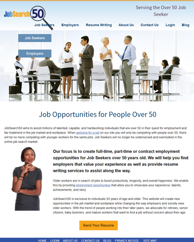 JobSearch50 - Job Opportunities for People Over 50 by W3Now Web Design