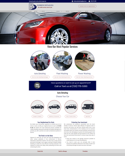 Robbins Mobile Detailing, Parker, CO by W3Now Web Design