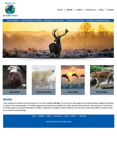 Select Life on Planet Earth in Parker, Colorado by W3Now Web Design
