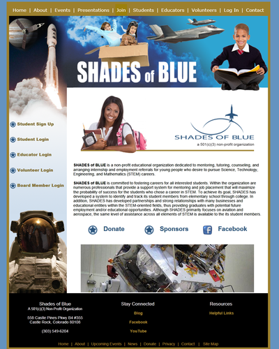 Shades of Blue - a  501(c)(3) Nonprofit Organization by W3Now Web Design