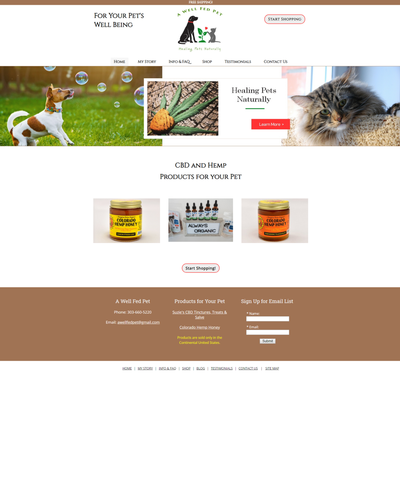A Well Fed Pet by W3Now Web Design